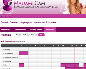 MadameCam planning tchat cougar