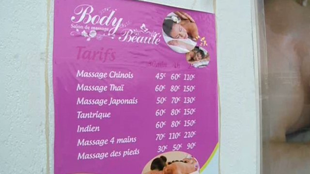 Le prix des massages avec finition comprendra forcément un pourboire non précisé sur la carte