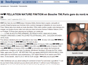 backpage escort paris