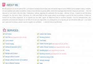 escort directory fiche profil