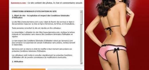 6annonce est l'un des plus gros sites d'annonces de prostituées sur internet