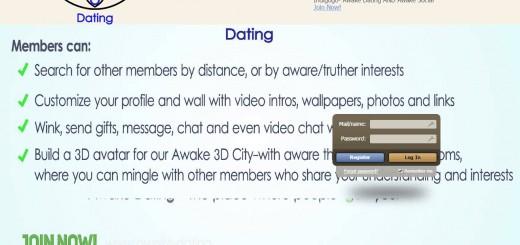 La page d'accueil d'Awake Dating est horrible mais le succès est quand même au rendez-vous.