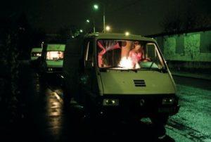 Photo d'une camionnette à pute dans le quartier de Gerland à Lyon