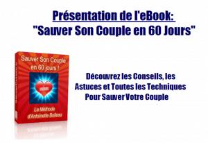 """Sauvez votre couple grâce au livre """"Sauver son couple en 60 jours"""""""