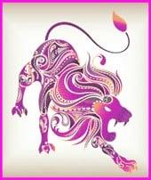 femme lion en amour