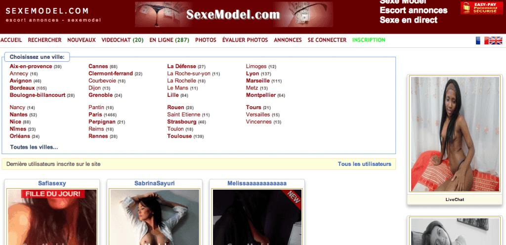 Sexemodel : Le site de mise en relation avec des Escort Girl