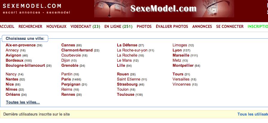 Sexemodel lyon