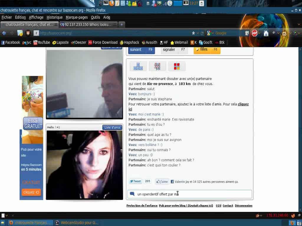 chantage webcam exhib arnaque