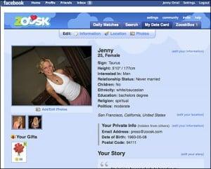 zoosk facebook spam