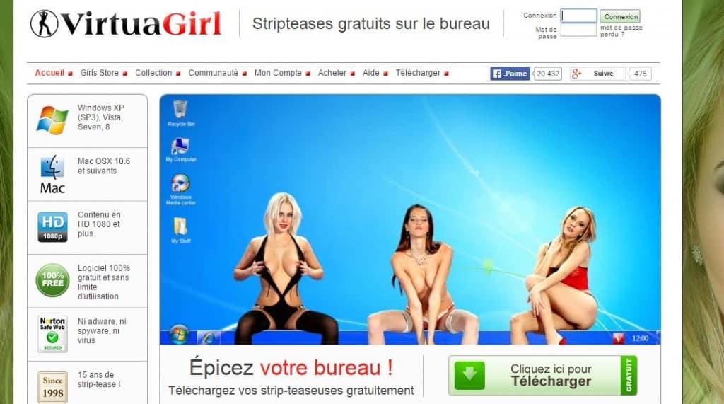 Virtuagirl – votre économiseur d'écran sexy