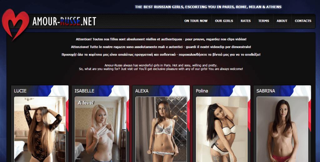 Amour Russe – Site n°1 pour les escorts russes à Paris