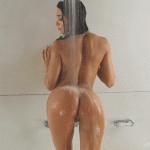 Gif d'une fille sexy sous la douche