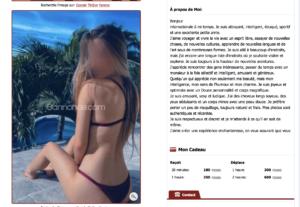Cette escort ne se déplace à domicile que pour 1h minimum et prend 50€ de plus que pour la même durée en in call
