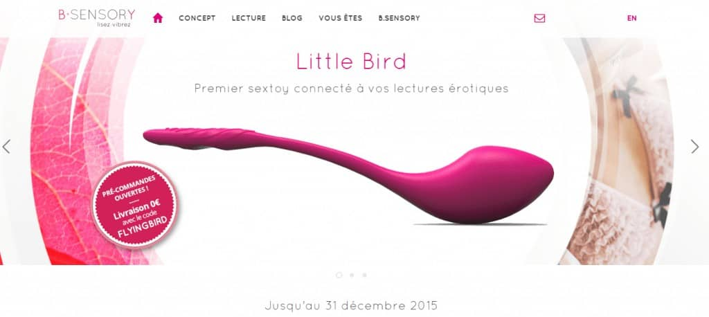 Le Little Bird de B-sensory, le sextoy connecté à vos lectures érotiques
