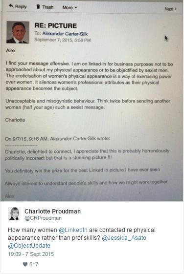 La vie d'Alexander Carter Silk a basculé le jour où Charlotte Proudman a dénoncé ses tentatives de drague sur Linkedin
