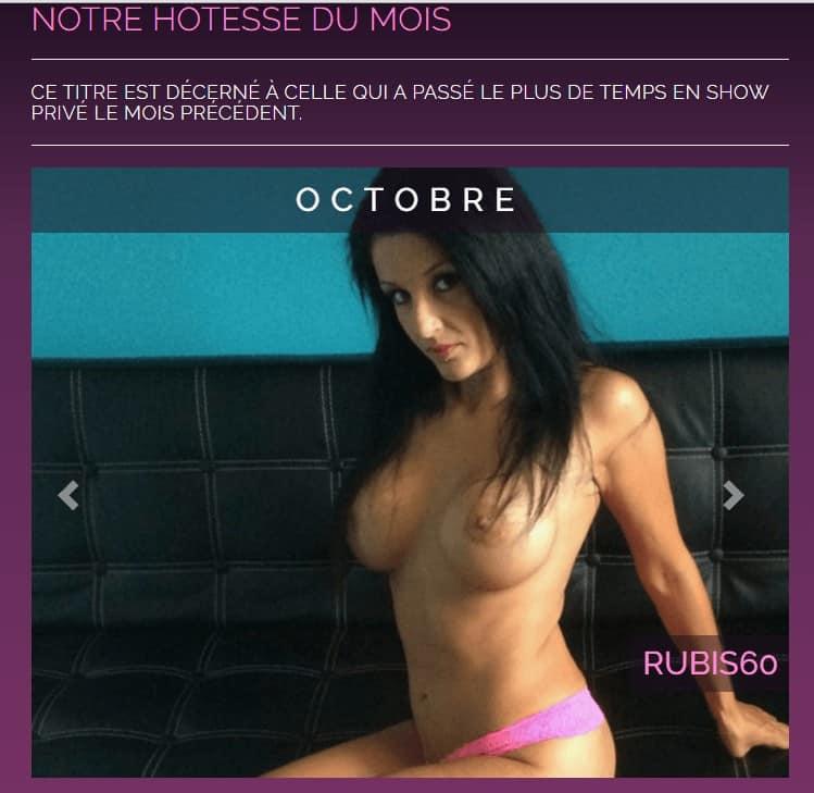 Photo de Rubis60, camgirl française témoignant dans Envoyé Spéciale et Camgirl du mois depuis 6 mois sur Desir Cam