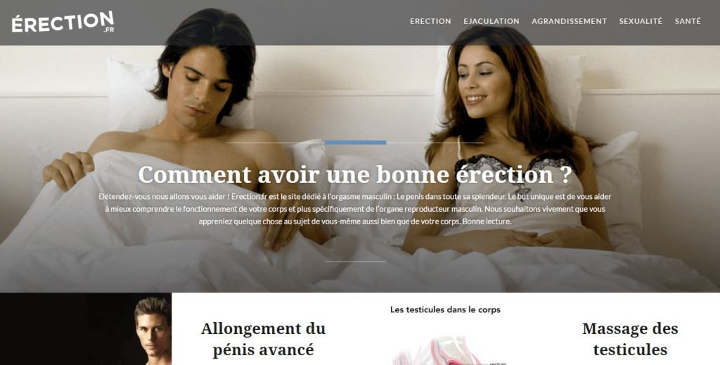Erection.fr : Le guide du pénis vigoureux