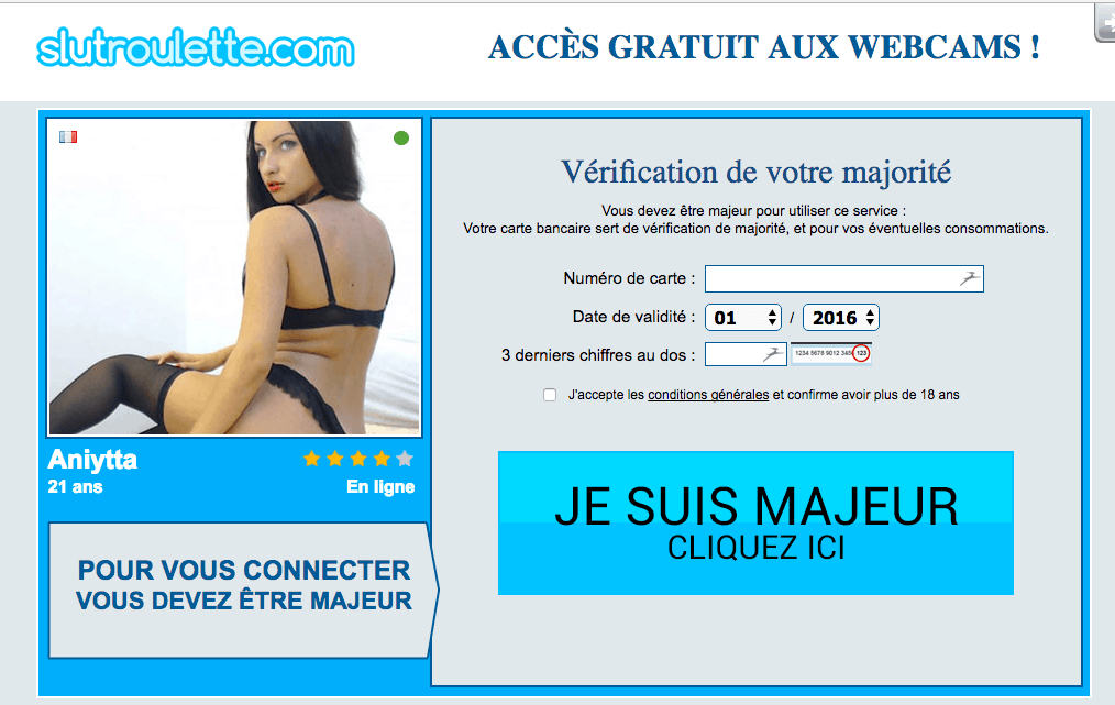 SlutRoulette : Site de webcam hot